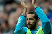 BACK IN TOON: Jonas Gutierrez returned to Newcastle's match-day squad for the 1-0 win over Aston Villa