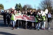 FEELING EXPRESSED: A protest march in January this year against removal of NHS services at Hartlepool Hospital
