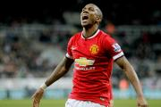 MATCH WINNER: Ashley Young celebrates his decisive strike in Manchester United 1-0 win over Newcastle