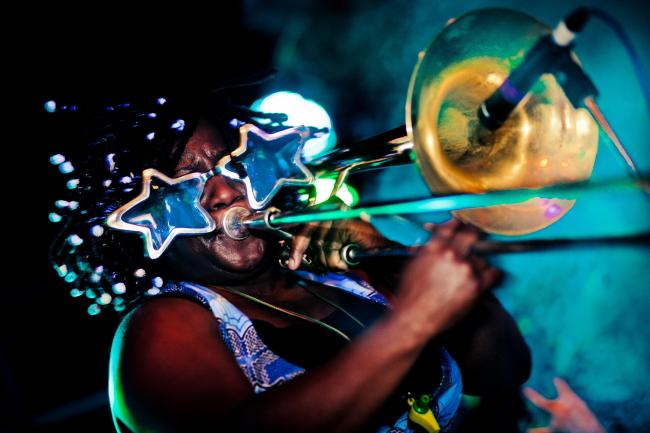 FESTIVAL: The Harambee Pasadia festival is set to take place in Barnard Castle next month Pictured is organiser Hannabiell Sanders playing the trombone