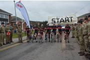 CHARITY: The team at the Catterick Garrison start line