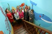 PATIENT FOCUS: Staff at the Child Development Centre, Northallerton, on a dated staircase they want to transform