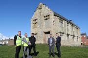 LISTED BUILDING: Derek Jackson, site manager, Darren Hall, operations manager, Mark Dutton, head of partnerships and resources at Thirteen Group, Damien Wilson, assistant director of regeneration at Hartlepool Council and Martin Hawthorne, director of reg