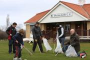 LITTER: Volunteer litter pickers from (l-r) Graeme Hurst, Angus Twiby, Dave Hodgson, Chris Twiby and Cllr Barry Hunt