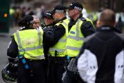 FLASHBACK: An arrest is made before the start of the Newcastle United v Sunderland match at St James' Park in December Picture: CHRIS BOOTH