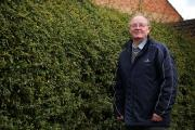 HEDGE: James Jordison from Darlington complains that council won't trim their hedge and it's encroaching into his garden Picture: SARAH CALDECOTT