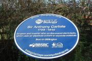 HISTORY: A blue plaque has been unveiled in Stillington, Stockton, in honour of Sir Anthony Carlisle, a doctor to royalty who is thought to have inspired Mary Shelley's 'Frankenstein'.