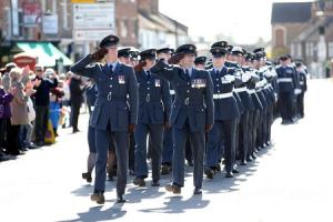 RAF unit marches through Bedale on its return from Afghanistan