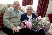 DIAMOND:  Bill and Betty Marley, of Spennymoor, celebrate their diamond wedding anniversary. Picture: TOM BANKS