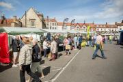 INNOVATION: One of Malton's regular food markets. The town's new agri-food park has been designated a food enterprise zone by environment secretary Elizabeth Truss