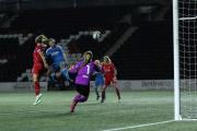 DREAM START: Beth Mead scored the winner as Sunderland Ladies kicked off their WSL season with a shock win over Liverpool