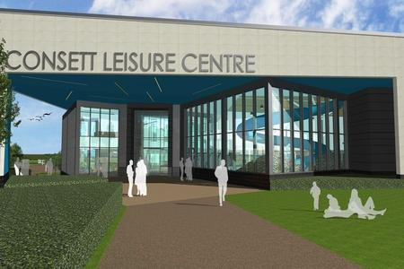 Sports An Artists Impression Of Consett Leisure Centre