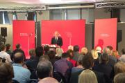 Tony Blair visits Newton Aycliffe to deliver pro-European speech