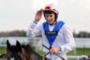AINTREE BOUND: Night In Milan, partnered by jockey James Reveley