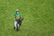 BOWING OUT: Jockey Tony McCoy following the Crabbie's Topham Chase on Ladies Day