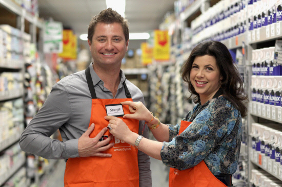 DIY CONCERNS: Kirstie Allsopp promoting B&Q's campaign to make home improvement easier for everyone in 2011
