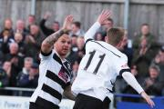 DARLO: Darlington v Mossley pictured one of Darlo goal scorers Graeme Armstrong Picture: SARAH CALDECOTT (22978912)