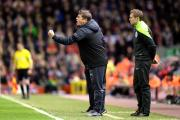 FRUSTRATION: Newcastle United caretaker manager John Carver during the Barclays Premier League match at Anfield