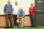 BOWLS: Fred and Maud Holdstock; Mike Fox and Lilian O'Mahoney at Scotton Bowling Club which is appealing for new members. Picture: RICHARD DOUGHTY PHOTOGRAPHY
