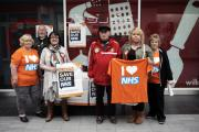 PETITION: NHS campaigners in Seaham. Picture: STUART BOULTON. (24296226)