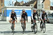 RACING: Stockton is to be the venue of the 1016 British Cycling National Road Championships. Pictured: the Achieve Northside Skinnergate team (l-r): Ben Hetherington, Ben Rowe, Jack Rees and Tom Timothy.
