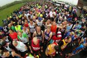 RUN: Runners take part in the Sunderland 10K and half marathon. Picture: TOM BANKS