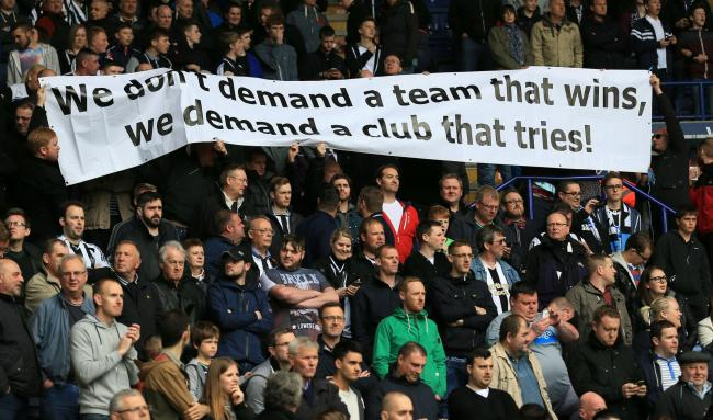NEWCASTLE FANS: 'We don't demand a team that wins, we demand a club that tries!'