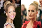 How to recreate Jennifer Lawrence and Poppy Delevingne's gorgeous topknot bun from the Met Gala