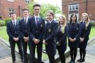 HEADS: Ripon Grammar School's new school officers, (L-R) Matthew Griffiths, Jack Baker, head boy James Donaldson, head girl Donna Castle-Ward, Lucy Mumford, Annabelle Blyton and Julia Atherley.