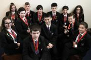 TRIAL: St. Peter's Catholic Voluntary Academy mock trial team . Picture: STUART BOULTON