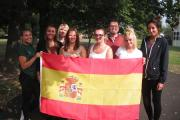 PLACEMENT: Last year's batch of Stockton Sixth Form College students pictured in Spain