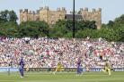 England play Australia at Durham County Cricket Club, with Lumley Castle in the background