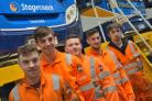 Engineered to succeed, Stagecoach North East's cohort of apprentices from 2014 (L to R) - Michael Cooper, Charlie Marshall, Aidan Thomas, Joe Cowell and Peter Billyard.