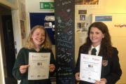 Amy Parratt (Year 8) came third in the region for Key Stage 3 entries and Sally Watson (Year 13).