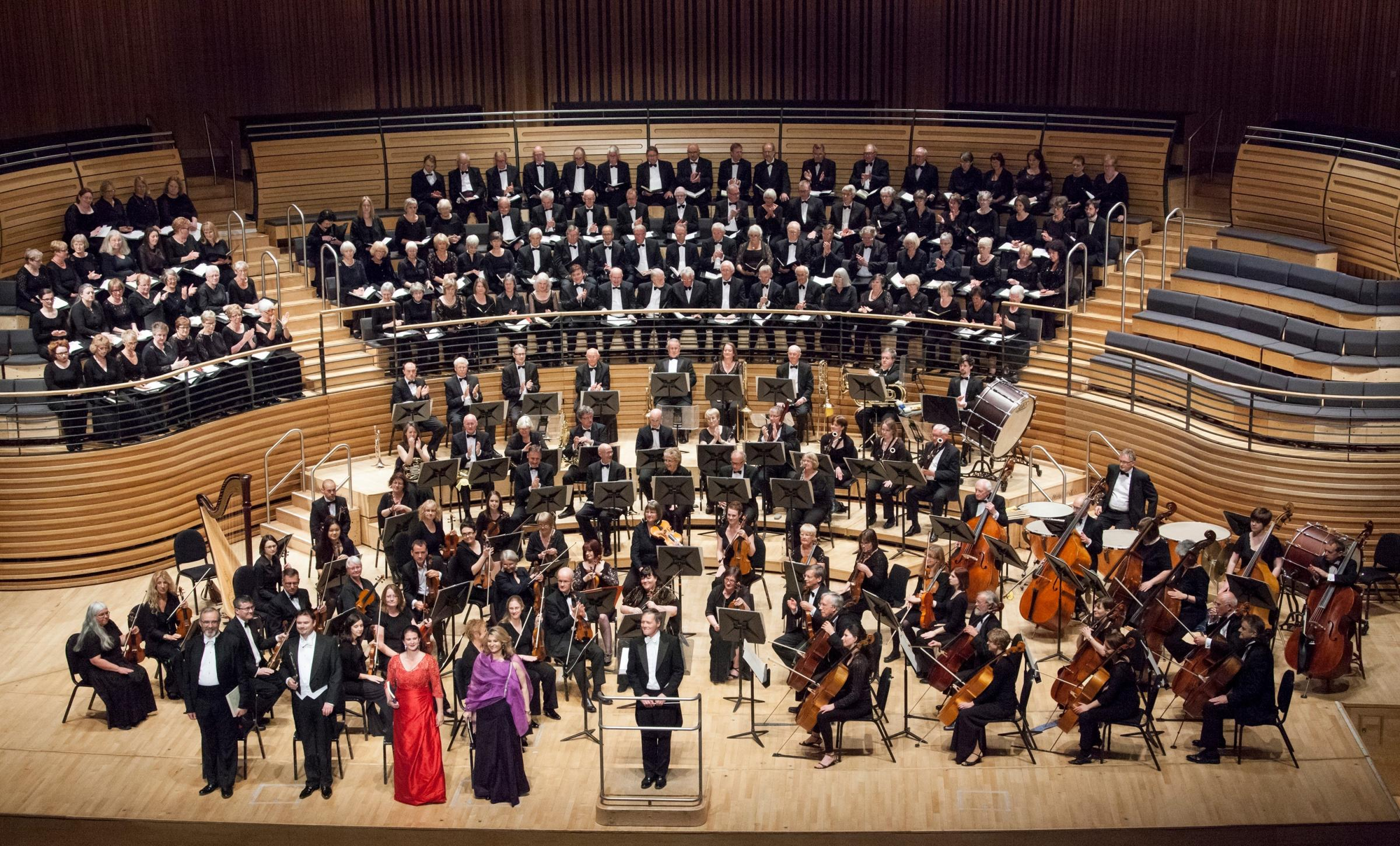 CONCERT: Orchestra North East with the Bishopwearmouth Choral Society and Ryton Choral Society at Sage Gateshead concert. Picture: SHONA BRANIGAN  (29482330)