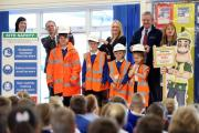 Taken: 2015  Stockton Council and Keepmoat Housing held an interactive safety assembly at Norton Primary School to teach the children safety practices around construction sites. Children were taking part in the assembly and some were wearing the safety eq