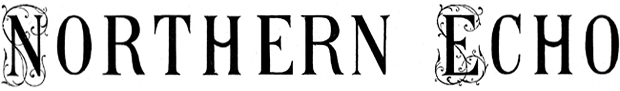 The Northern Echo: Northern Echo masthead from its first edition in 1870