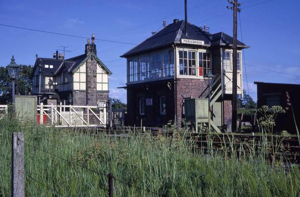 The Northern Echo: PIERCEBRIDGE: The station and the signalbox on May 16, 1963. The station house still stands as a private residence beside the old Roman road. Photograph by John Boyes and courtesy of the JW Armstrong Trust