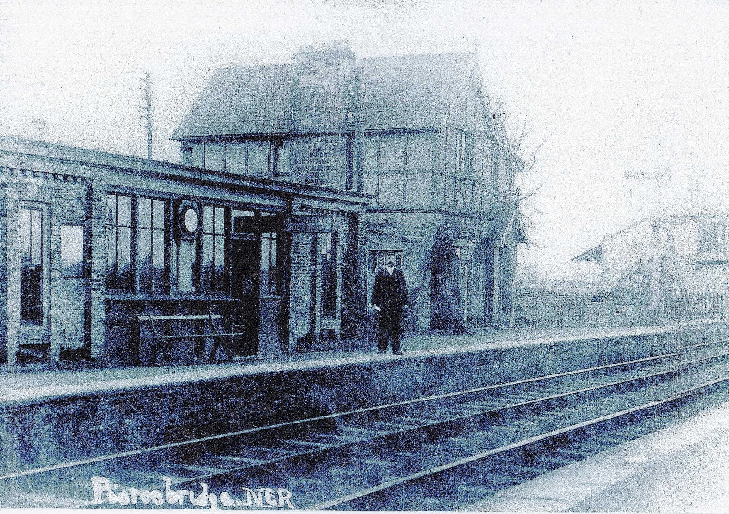 EDWARDIAN: Piercebridge station about 100 years ago. Picture courtesy of Mike Stow of Gainford
