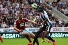 Last appearance? Moussa Sissoko helped Newcastle United to stay up last season by defeating West Ham at St James' Park. Picture: TOM BANKS