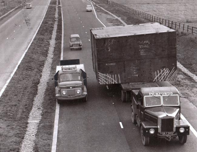 WIDE LOAD: Taken on the Leeming and Londonderry by-pass on October 19, 1961, the day after the northbound A1 opened