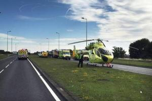 Witness appeal after three people injured during rush hour collision