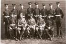 The 8th DLI: Sgt Teasdale is standing on the far right. Picture courtesy of Harry Moses