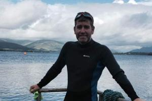 Teesdale YMCA chief executive swims across Scottish Loch to help disadvantaged youngsters