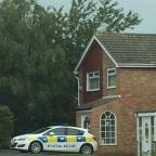 The Northern Echo: UNEXPLAINED DEATH: A police car today (TUESDAY) outside the house where Mason Douglass, 13, died suddenly last night (MONDAY)