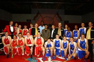Former world champion boxer attended Army boxing event