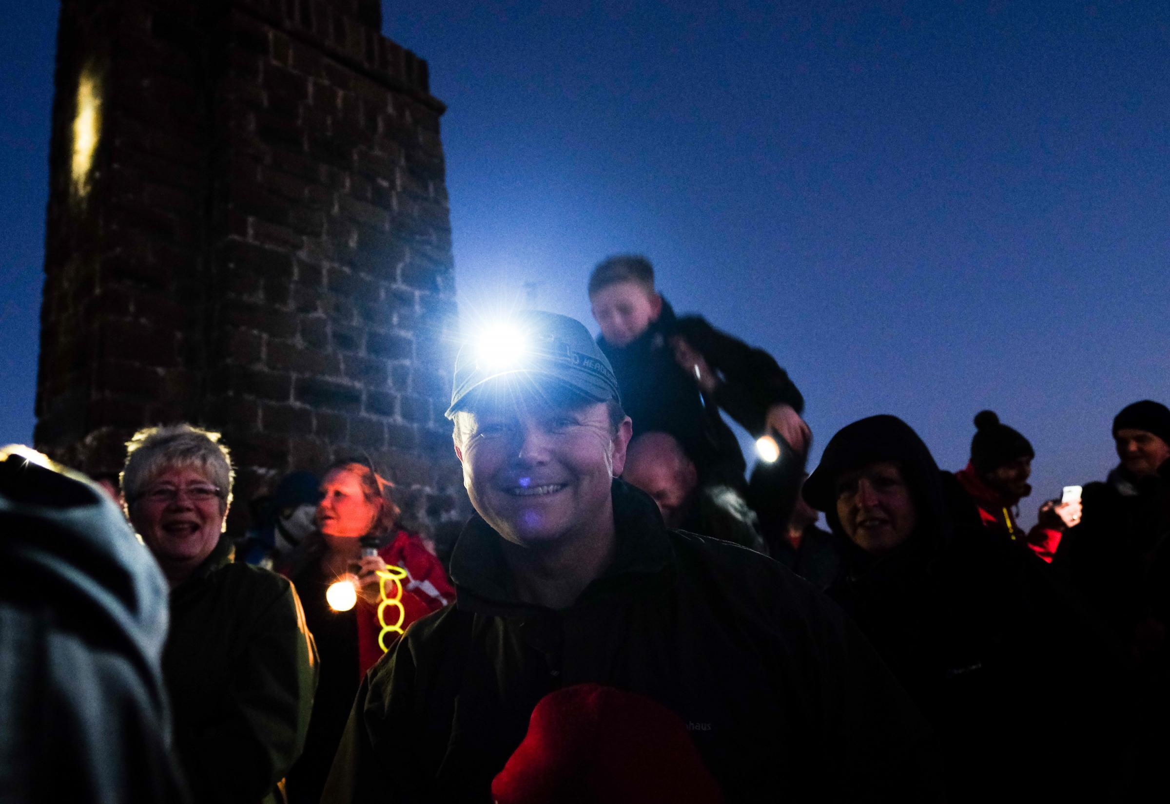 The torchlit procession to show solidarity for the region's steel industry Picture: Ian Forsyth