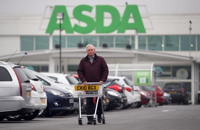 Parking campaigner Lynn Robson at the Asda store in Peterlee. Picture: CHRIS BOOTH
