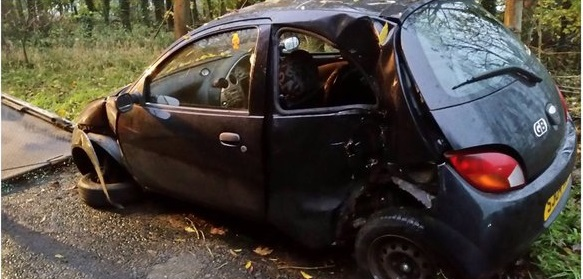 The Driver Of The Black Ford Ka Was Breathalysed At The Roadside Before Being Taken To
