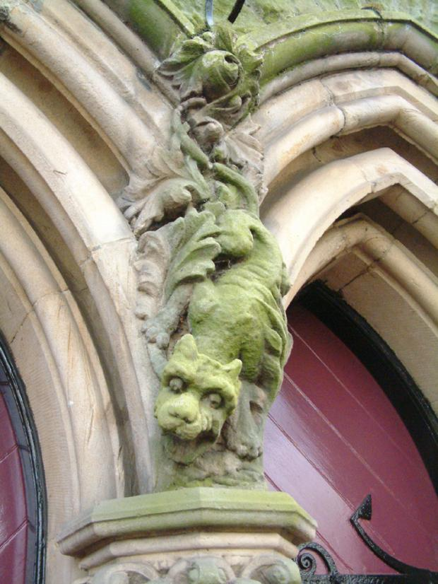 The Northern Echo: LOUD ROAR: A dragon in the stonework at Cockerton Methodist Church, Darlington